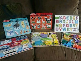 6 Melissa and Doug Puzzles