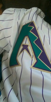 white, green, and purple pinstriped shirt Compton, 90220