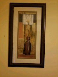 brown wooden framed painting of brown vase Fort Washington, 20744