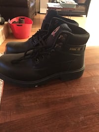 Pair of black leather work boots Royal Oaks, 95076