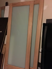 Over sized custom made Mahogany frosted glass doors 9ftx6ft West Dundee, 60118