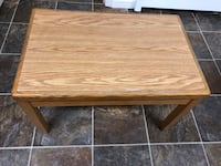 Small solid oak table, good for kid play or study Burnaby