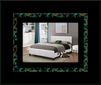 White platform bed with mattress and box all size Ashburn, 20147