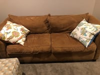 Tan love seat with matching pillows  Forest Hill, 21050