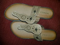 pair of white leather slip-on shoes Ladson, 29456