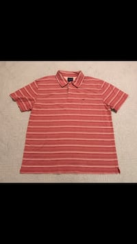 Façonnable • Red • White • Cream • Striped • Polo • Men • Large Houston, 77002