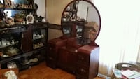 brown wooden dresser with mirror Coldstream, V1B 1J6
