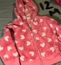 pink and white polka dot zip-up hoodie Leicester, 28748