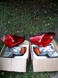 Ford head lights and tail lights brand new