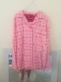 Pink and black floral button-up nightie Set  Whitby, L1N 1W4