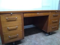 brown wooden single pedestal desk Albuquerque, 87102