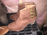 Women's brown suede booties Moncton, E1E 2N5