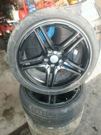 "4 black 5-spoke Audi a4 18"" rims Ajax, L1Z"
