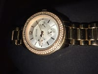 Yellow Gold bulova watch with diamond edged face. Kitchener, N2G 3L3