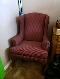 brown and red fabric sofa chair Calgary, T2C 4Y6