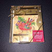 Set of Christmas gold cards (10 cards) Montreal, H3B 4V3