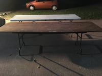 8 foot wooden folding table Alachua, 32615