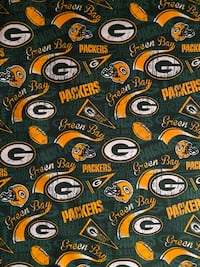 PRICED TO SELL! 1 yard Green Bay Packers Cotton Fabric