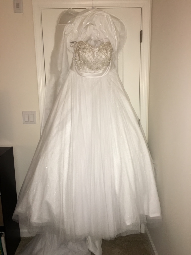 Photo Never used or altered Wedding Gown