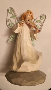 woman fairy ceramic figurine