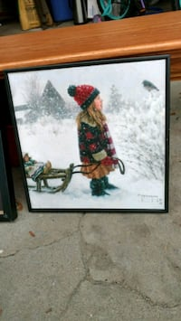 $20 or BO Winter painting signed and professionally framed