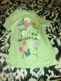 green and white floral crew neck shirt Chicago, 60639