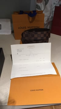 black and brown Louis Vuitton leather belt with box Springfield, 01109