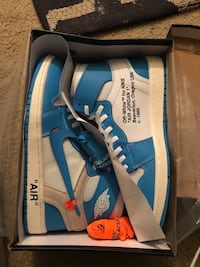 Air Jordan off white unc 1 District Heights, 20747
