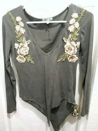 Green floral long sleeve body suit Chico, 95928