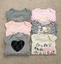 6 baby girl bodysuits size 3-6 months- worn only once Mississauga, L5M 0C5