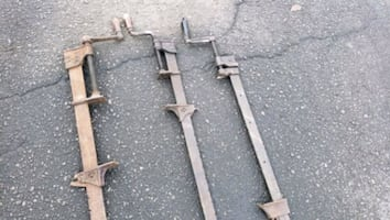 3 vintage iron back vise clamps