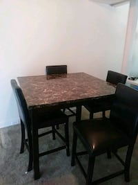rectangular brown wooden table with six chairs din Richmond, 23225