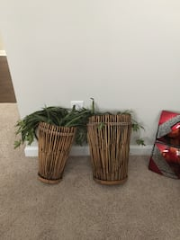 Wall vases/ bamboo wall decor set (2 for $5)