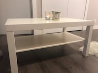 White Ikea coffee table  North Vancouver, V7L 3G3