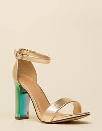 New gold sandals with iridescent heel (8.5) Maple Heights, 44137