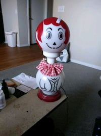 Antique raggedy Andy lamp