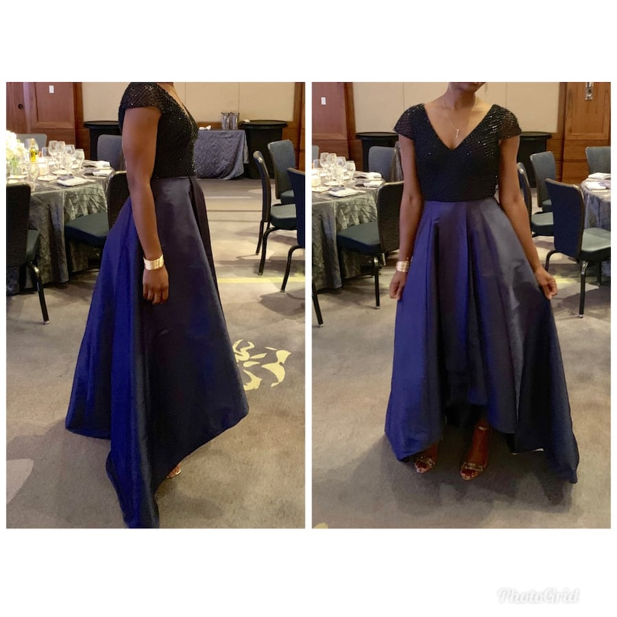 Formal navy blue gown from Nordstrom Rack