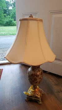 brown and white ceramic base table lamp Chattanooga, 37412