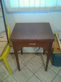 brown wooden single-drawer end table Edmonton, T5W 4R7