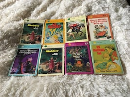 Eight vintage Dell Yearling paperbacks