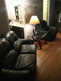 Authenic leather chair and love seat set 3717 km