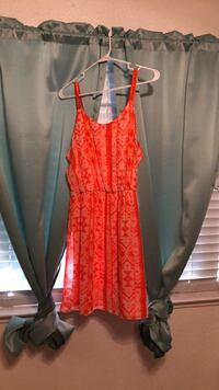 red and black floral spaghetti strap dress Cottonwood, 96022