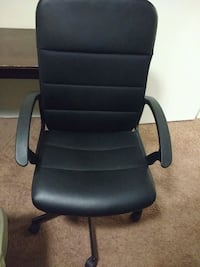 black leather office rolling armchair 51 km