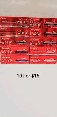10 Colgate Optic White Toothpaste Brand New Billerica, 01821