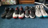 Pack of 4 used sneaker sizes in description