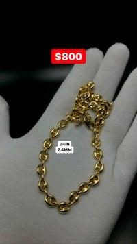 "10k yellow gold 24"" puff Gucci chain 7.4mm Toronto, M1K 1N8"