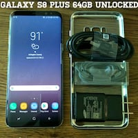Silver Galaxy S8 Plus 64GB UNLOCKED w/ Accessories Arlington