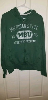 Michigan State Zip up Hoodie LARGE Taylor, 48180
