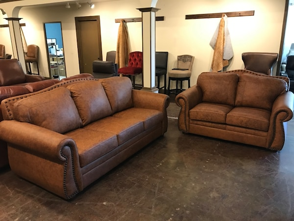 Top Grain Distressed Leather Sofa and Loveseat for Sale ...