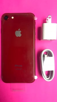 red iPhone 7 plus with case Somerville, 02145